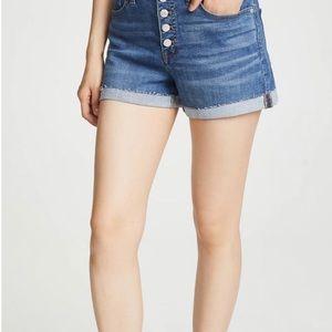 Madewell high rise denim shorts size 37/18w